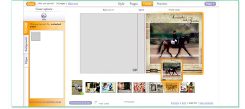 Drag and Drop Images into Cover and Spine