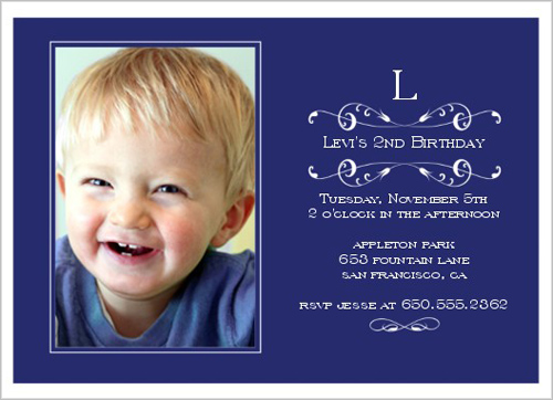 year old birthday invitation card