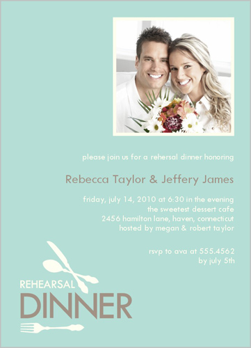 Shutterfly Dinner Setting Rehearsal Dinner Invitation